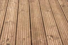 Pavimento di legno esposto all'aria Immagine Stock