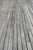 Pavimento di legno grigio del terrazzo Fotografie Stock Libere da Diritti