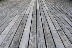 Pavimento di legno grigio del terrazzo Immagini Stock