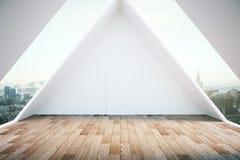 Pavimento di legno interno del sottotetto Immagini Stock Libere da Diritti