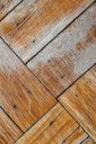 Pavimento di legno sbiadetto e strascicato Immagini Stock Libere da Diritti