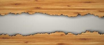 Pavimento di legno strappato illustrazione vettoriale
