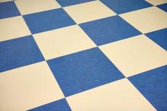 Pavimento di marmo checkered di colore Fotografie Stock Libere da Diritti