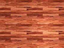 Pavimento di mogano del laminato di legno Immagini Stock Libere da Diritti