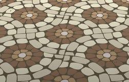 pavimento di mosaico delle mattonelle Fotografia Stock