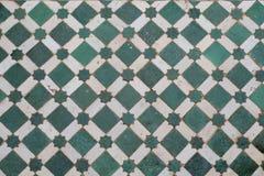 Pavimento di mosaico verde Immagini Stock Libere da Diritti