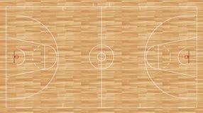 Pavimento di pallacanestro - fiba di regolamento Immagine Stock