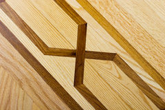 Pavimento di parchè del legno duro con il reticolo Fotografia Stock