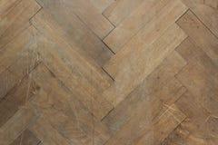 Pavimento di parquet di legno di Brown Fotografia Stock