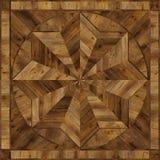 Pavimento di parquet di lerciume di progettazione del medaglione, struttura senza cuciture di legno Immagini Stock