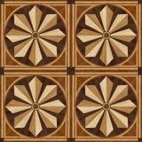 Pavimento di parquet di progettazione del medaglione, struttura di legno Immagini Stock Libere da Diritti
