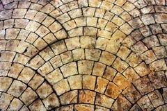 Pavimento di pietra giallo Immagini Stock