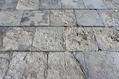 Pavimento di pietra quadrato Fotografia Stock