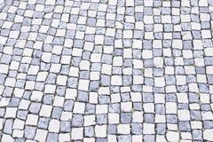 Pavimento di pietra tipico di Lisbona Immagini Stock Libere da Diritti