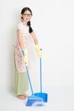 Pavimento di pulizia della donna Fotografia Stock