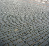 Pavimento do Cobblestone foto de stock