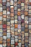 Pavimento do Cobblestone em Praga Fotos de Stock