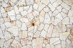 Pavimento duro di struttura del backround naturale delle pietre Fotografia Stock Libera da Diritti