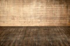 Pavimento e parete concreti dell'illustrazione nel vecchio interno Fotografia Stock Libera da Diritti