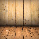 Pavimento e parete di legno Fotografia Stock