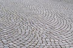 Pavimento en una ciudad con el modelo circular Fotografía de archivo