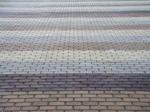 Pavimento grigio del mattone fotografie stock