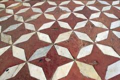Pavimento, hecho de cuatro estrellas y rhombs del courner Foto de archivo