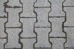 Pavimento La superficie de la carretera de bloques de cemento Fotografía de archivo libre de regalías