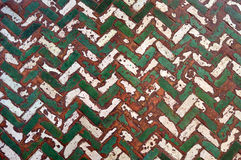 Pavimento marocchino del mattone dell'osso dell'aringa Immagine Stock Libera da Diritti