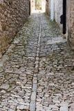 Pavimento medieval foto de stock