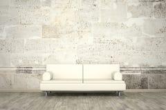 Pavimento murale del sofà della parete di pietra della parete della foto Fotografia Stock