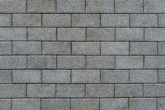 Pavimento pavimentado com o tijolo retangular cinzento Imagens de Stock Royalty Free