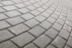Pavimento pavimentado del guijarro Imágenes de archivo libres de regalías
