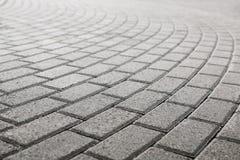 Pavimento pavimentado del guijarro Fotografía de archivo