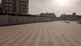 Pavimento pavimentato in Abu Dhabi I UAE fotografia stock libera da diritti