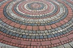 Pavimento puesto en modelo circular Imagen de archivo