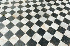 Pavimento a quadretti antico Fotografie Stock Libere da Diritti