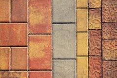 Pavimento que suela la textura al aire libre colorida fotografía de archivo