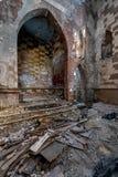 Pavimento sprofondante all'altare - chiesa abbandonata - New York Immagini Stock