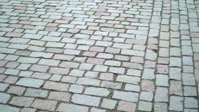 Pavimento velho do cobblestone filme