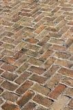 Pavimento velho do tijolo Imagem de Stock Royalty Free