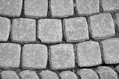 Pavimento viejo de la piedra gris Fotografía de archivo libre de regalías