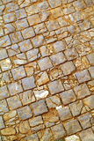 Pavimento viejo del guijarro Imagenes de archivo