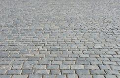 Pavimento viejo del guijarro Foto de archivo libre de regalías