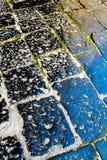 Pavimento viejo - guijarro Fotos de archivo