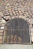 Pavimento y marbl del extracto de Italia Varese de la calle de Villadosia Fotos de archivo