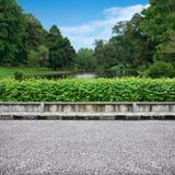 Pavimento y parque Imagenes de archivo
