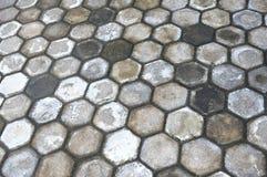 Paving block. Pattern octagonal on the paving block Stock Image