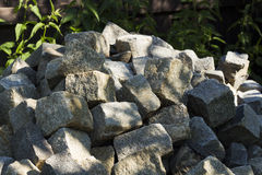Paving blocks in heap Stock Image