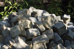 Paving blocks in heap Stock Image